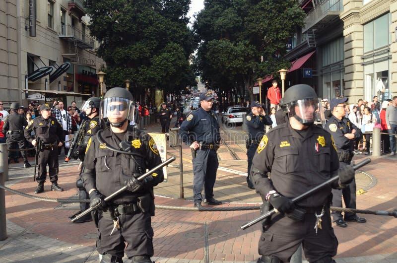 Ο Eric συγκεντρώνει τη διαμαρτυρία στο Σαν Φρανσίσκο στοκ φωτογραφία με δικαίωμα ελεύθερης χρήσης
