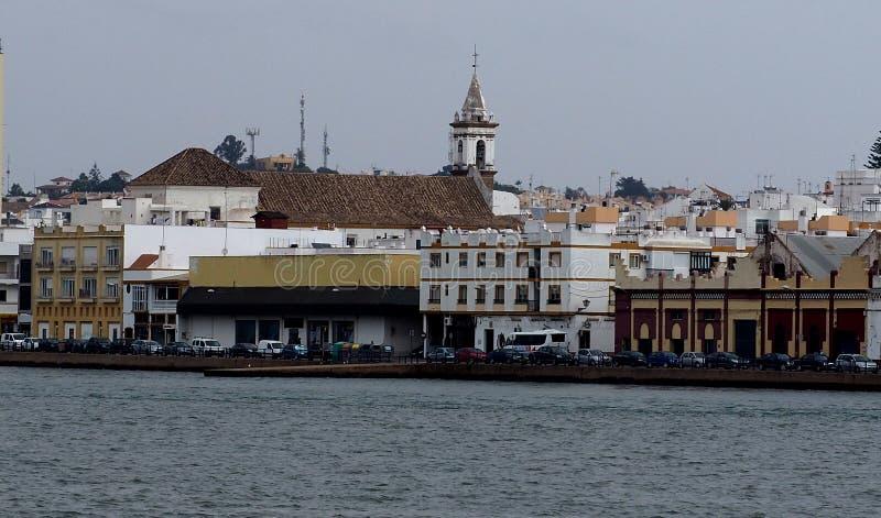 Ο Guadiana ποταμός και Ayamonte Ισπανία στοκ φωτογραφίες με δικαίωμα ελεύθερης χρήσης