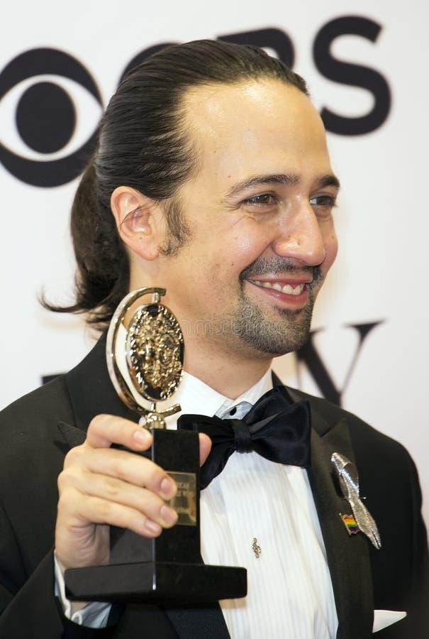 Ο lin-Manuel Miranda κερδίζει σε 70ο ετήσιο Tonys στοκ φωτογραφία με δικαίωμα ελεύθερης χρήσης