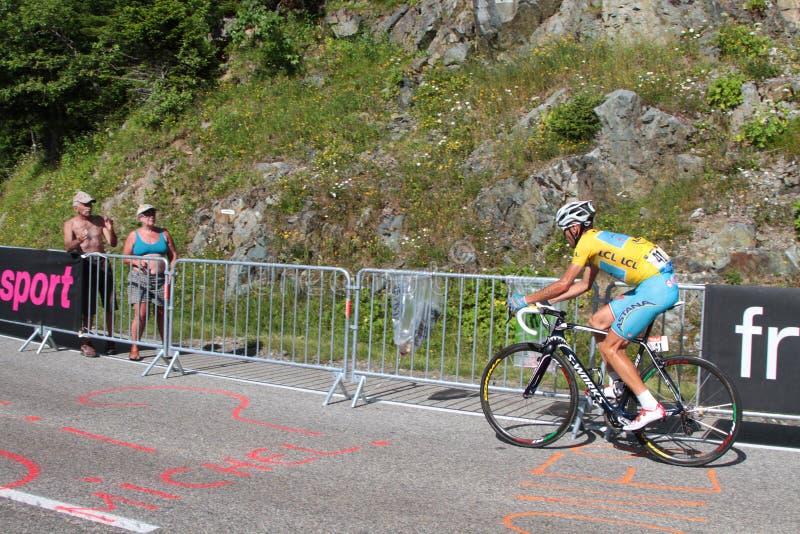 Ο Vicenzo Nibali κερδίζει στοκ εικόνες