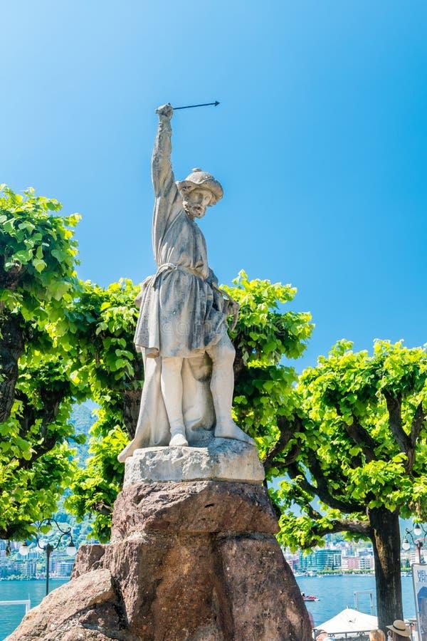 Ο William λέει το άγαλμα στον περίπατο του θερέτρου του Λουγκάνο στοκ εικόνες