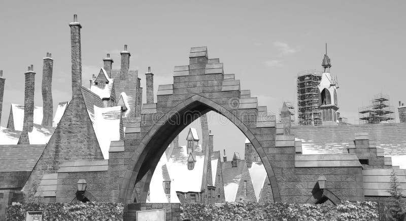 Ο wizarding κόσμος του αγγειοπλάστη Harry στα UNIVERSAL STUDIO στοκ εικόνα