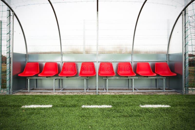 Πάγκος ποδοσφαίρου στοκ εικόνα