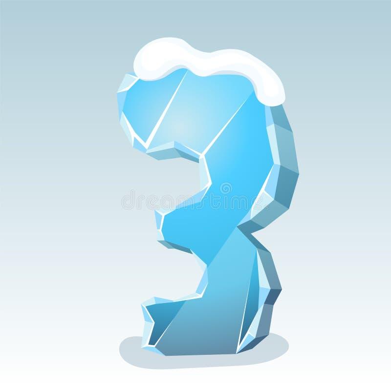 Πάγος αριθμός τρία ελεύθερη απεικόνιση δικαιώματος