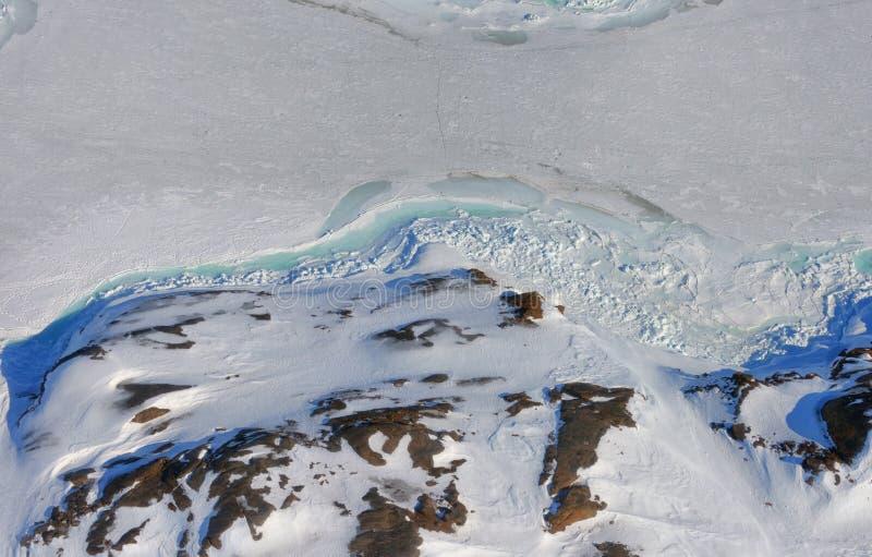 Πάγος και έδαφος της Γροιλανδίας στοκ φωτογραφίες με δικαίωμα ελεύθερης χρήσης