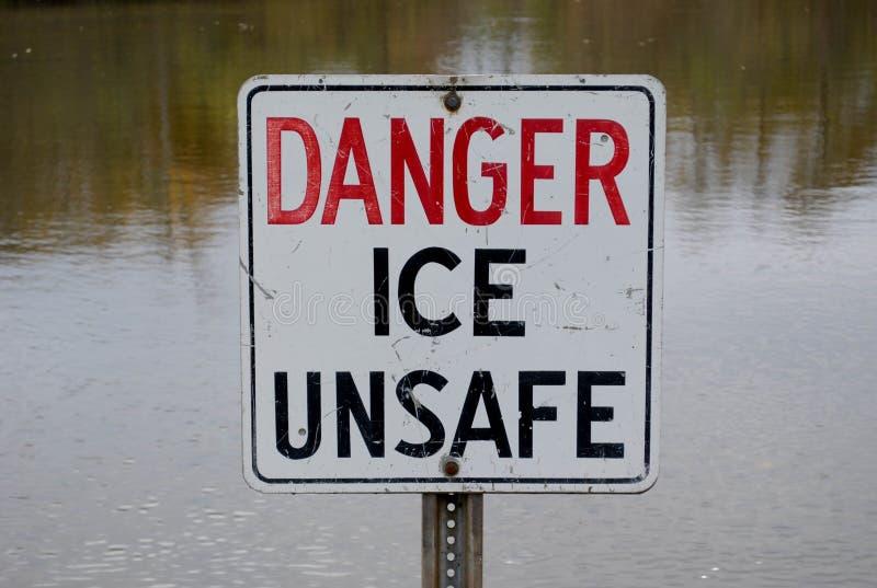 Πάγος κινδύνου επισφαλής στοκ εικόνα με δικαίωμα ελεύθερης χρήσης