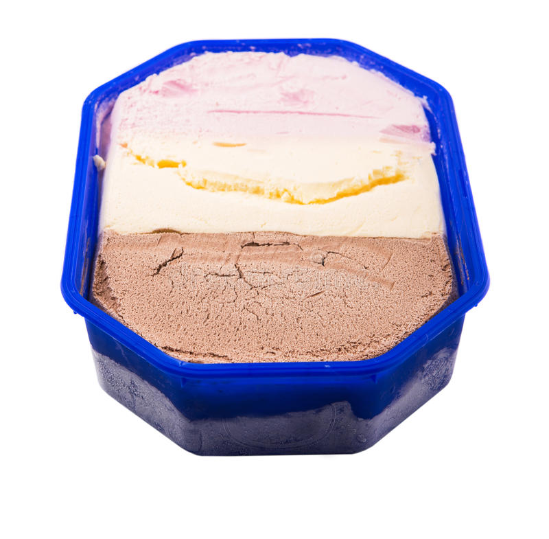 πάγος κρέμας neapolitan στοκ φωτογραφία με δικαίωμα ελεύθερης χρήσης