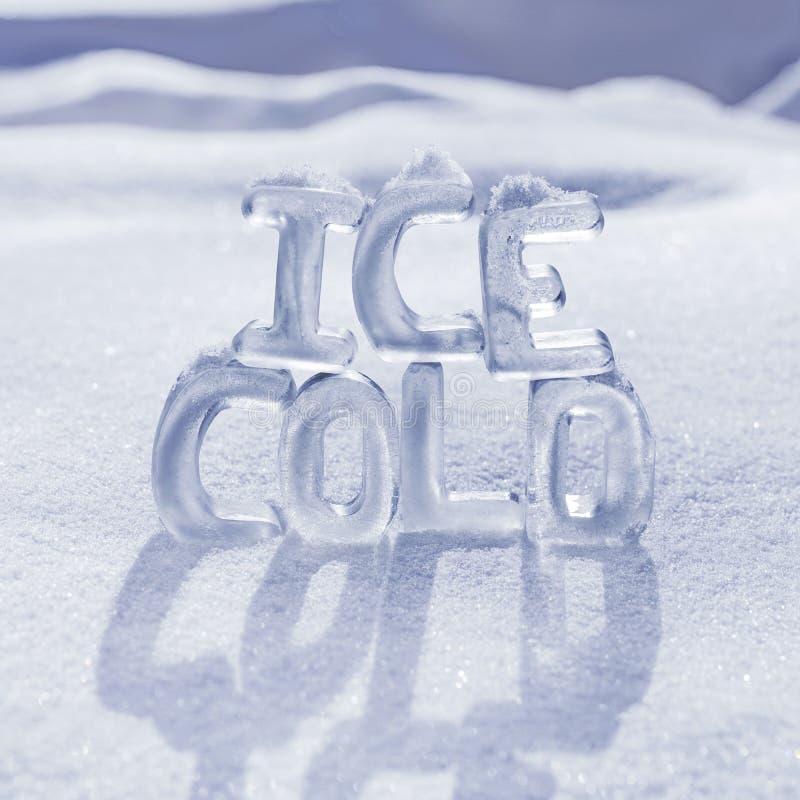 Πάγος - κρύες επιστολές στοκ φωτογραφίες με δικαίωμα ελεύθερης χρήσης