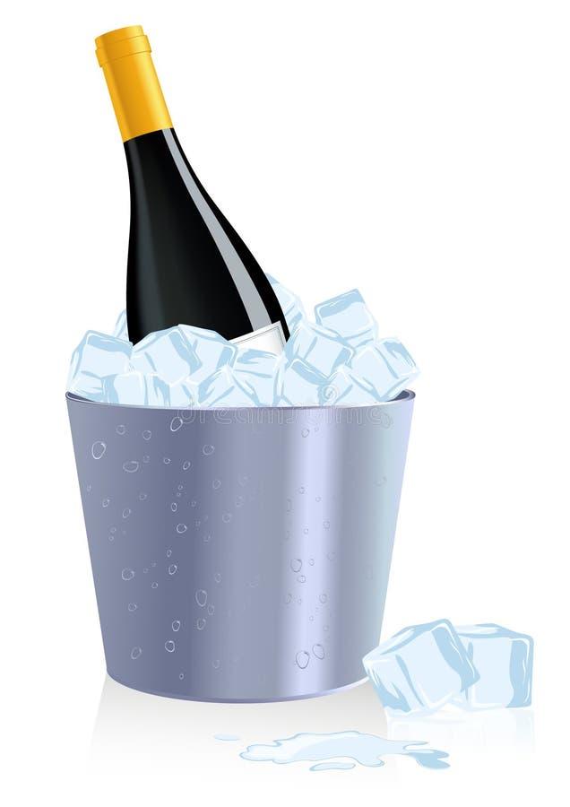 πάγος μπουκαλιών διανυσματική απεικόνιση