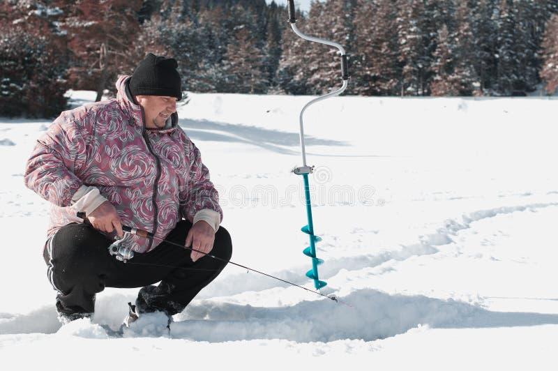 Πάγος που αλιεύει το Ι στοκ φωτογραφίες