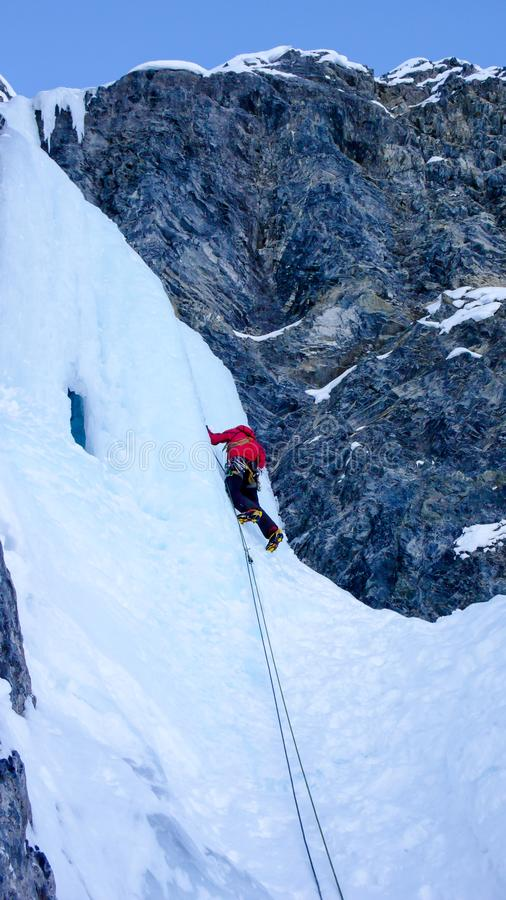 Πάγος που αναρριχείται στις ελβετικές Άλπεις στοκ φωτογραφία