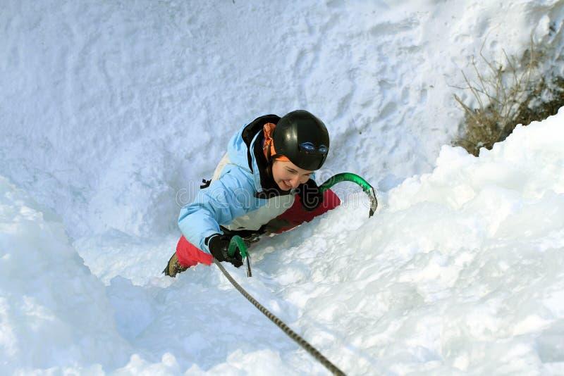 Πάγος που αναρριχείται στο βόρειο Καύκασο στοκ εικόνες με δικαίωμα ελεύθερης χρήσης