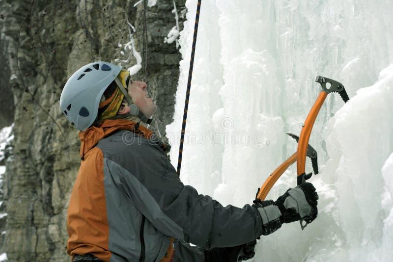 Πάγος που αναρριχείται στο βόρειο Καύκασο στοκ φωτογραφία