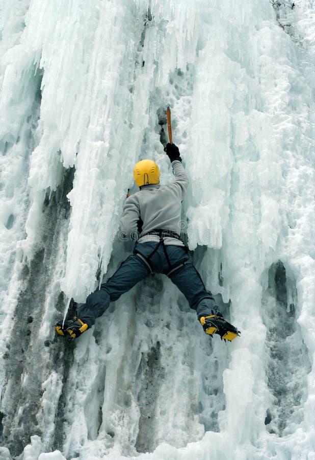 Πάγος που αναρριχείται στο βόρειο Καύκασο στοκ εικόνες