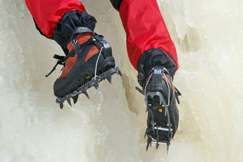 Πάγος που αναρριχείται crampon στοκ εικόνα
