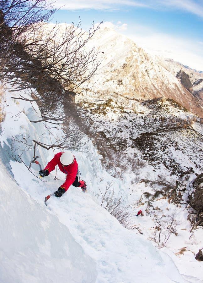 πάγος πτώσης ορειβατών στοκ εικόνα