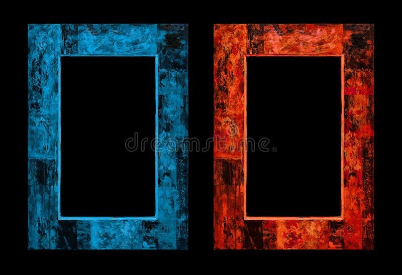 πάγος πυρκαγιάς παλαιό ύφος πλαισίου Πλαίσιο εικόνων στοκ φωτογραφίες με δικαίωμα ελεύθερης χρήσης