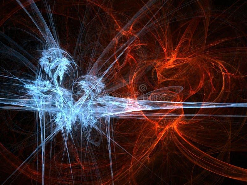 πάγος πυρκαγιάς διανυσματική απεικόνιση