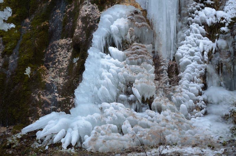 Πάγος σε ένα δάσος 2 βουνών στοκ φωτογραφία με δικαίωμα ελεύθερης χρήσης