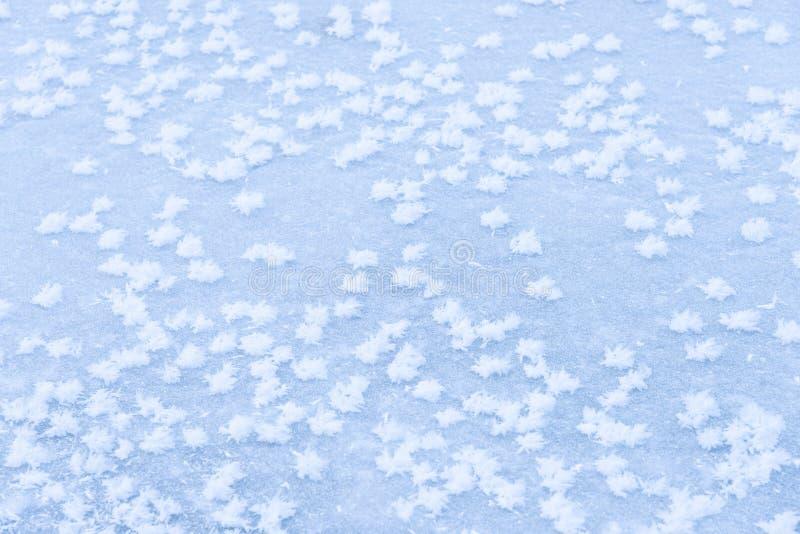 Πάγος υποβάθρου στην παγωμένη λίμνη με snowflakes την αφηρημένη μορφή στοκ εικόνα με δικαίωμα ελεύθερης χρήσης