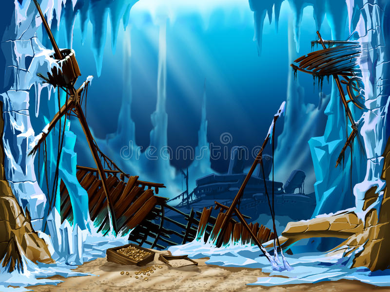 πάγος υποβρύχιος ελεύθερη απεικόνιση δικαιώματος