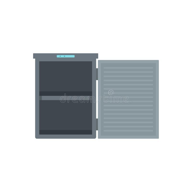 Πάγωμα με το εικονίδιο 2 δωματίων, επίπεδο ύφος διανυσματική απεικόνιση