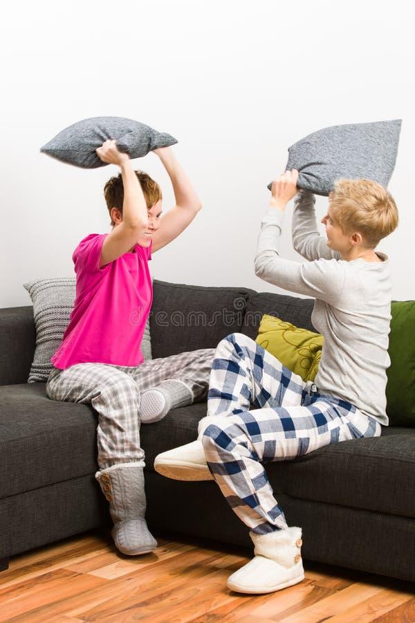 Πάλη μαξιλαριών Στοκ Εικόνες