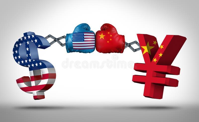 Πάλη νομίσματος δολαρίων Yuan απεικόνιση αποθεμάτων