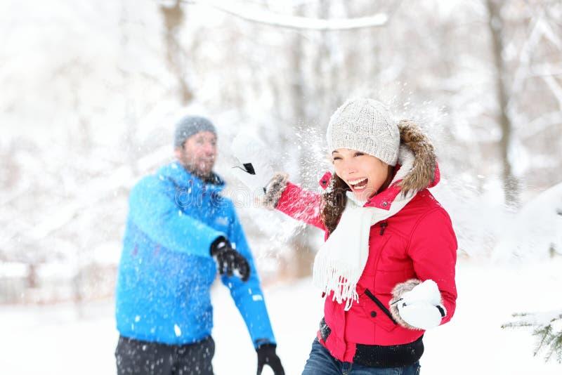 Πάλη χιονιών στοκ εικόνα με δικαίωμα ελεύθερης χρήσης