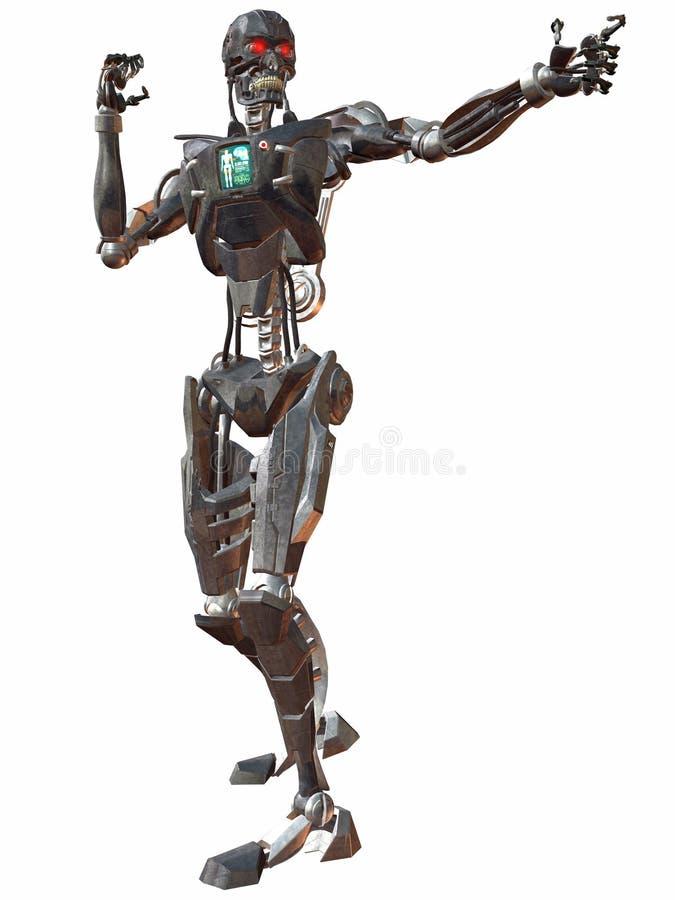 πάλη 3000 cyborg διανυσματική απεικόνιση