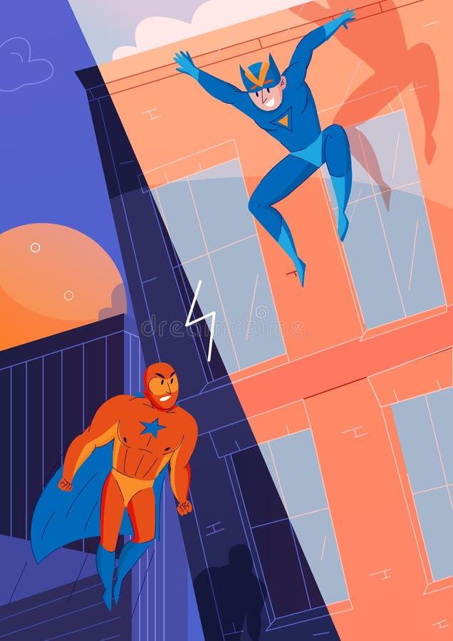 Πάλη Comics Superheroes απεικόνιση αποθεμάτων
