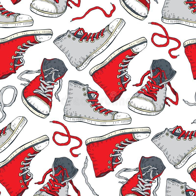 πάνινα παπούτσια Άνευ ραφής ανασκόπηση ελεύθερη απεικόνιση δικαιώματος