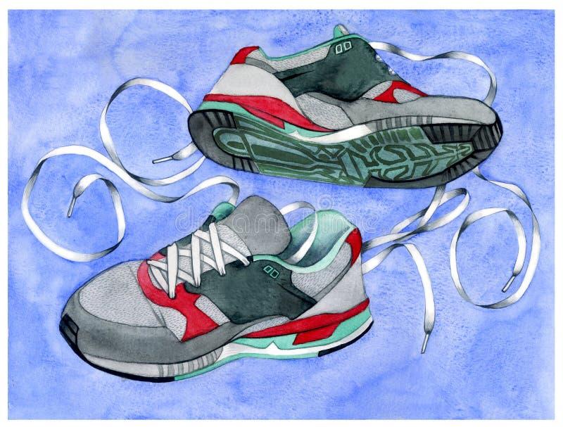 Πάνινα παπούτσια με τα κορδόνια στοκ φωτογραφία με δικαίωμα ελεύθερης χρήσης