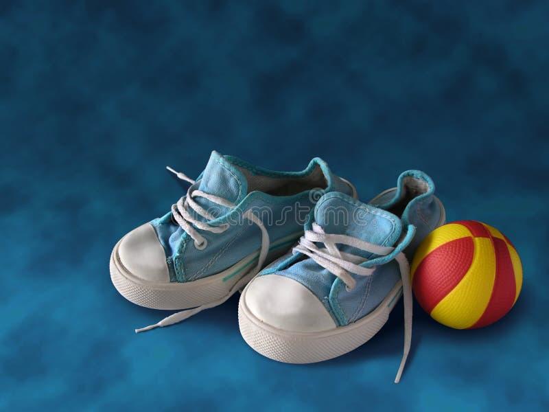 πάνινα παπούτσια παιδιών στοκ φωτογραφία