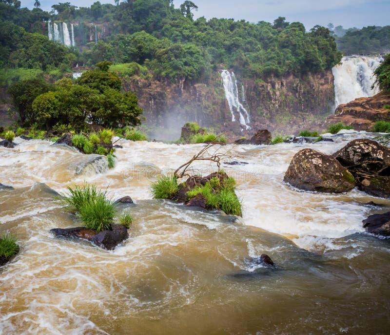 Πάνω από τις πτώσεις Iguazu στοκ φωτογραφίες