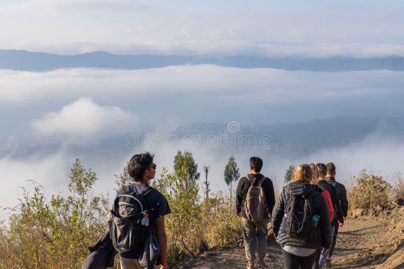 Πάνω από το ηφαίστειο Batur στοκ εικόνα με δικαίωμα ελεύθερης χρήσης