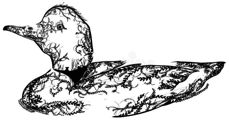 Πάπια Doodle στοκ εικόνες με δικαίωμα ελεύθερης χρήσης