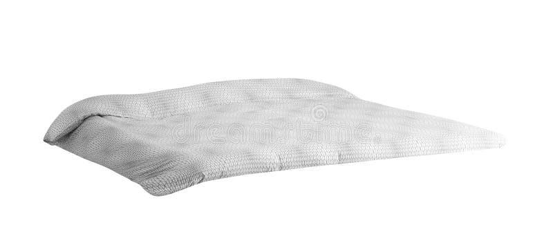 Πάπλωμα που απομονώνεται στο λευκό στοκ φωτογραφίες