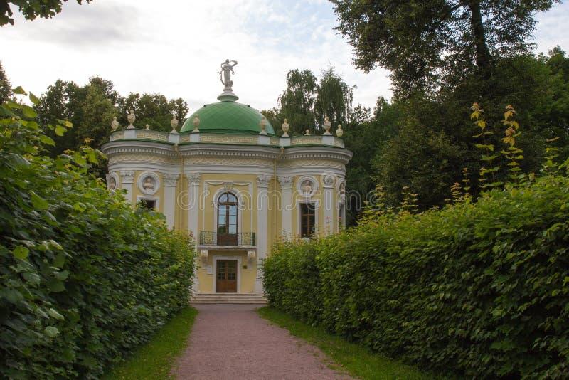 Πάρκα της Μόσχας Ευγενές κτήμα Kuskovo Το περίπτερο ερημητηρίων στοκ φωτογραφίες
