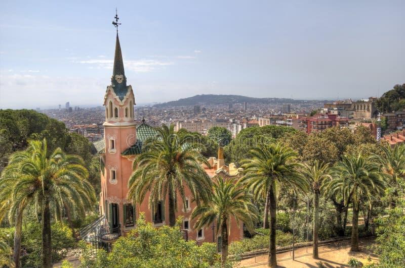 Πάρκο Βαρκελώνη, Ισπανία Guell στοκ εικόνα