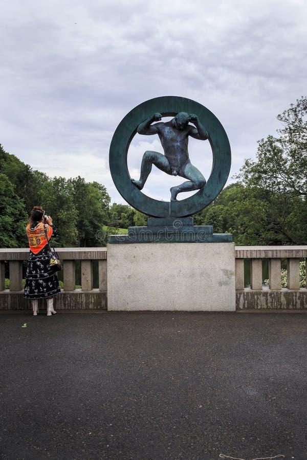 Πάρκο γλυπτών Vigeland στοκ φωτογραφία με δικαίωμα ελεύθερης χρήσης