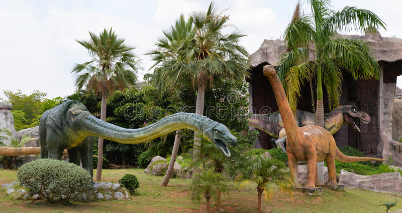 Πάρκο δεινοσαύρων στοκ εικόνα με δικαίωμα ελεύθερης χρήσης