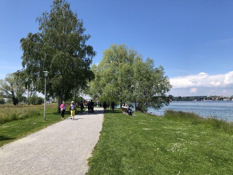 Πάρκο και δενδρολογικός κήπος Seeburgpark σε Kreuzlingen, Ελβετία στοκ εικόνες με δικαίωμα ελεύθερης χρήσης