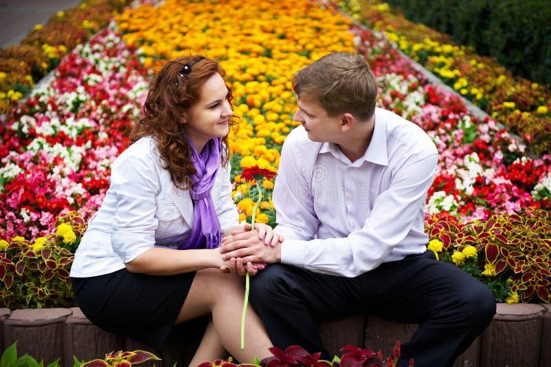 πάρκο λουλουδιών ημερο στοκ εικόνα με δικαίωμα ελεύθερης χρήσης