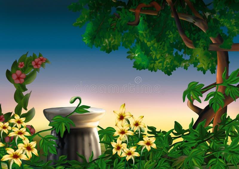 πάρκο λουλουδιών απεικόνιση αποθεμάτων