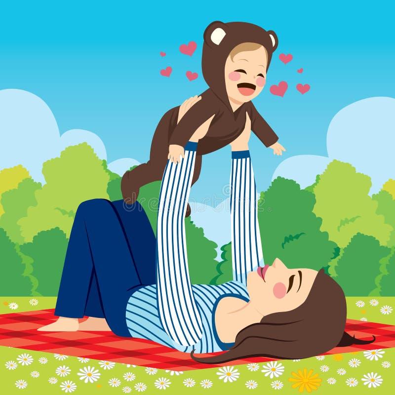 Πάρκο μωρών Mom διανυσματική απεικόνιση