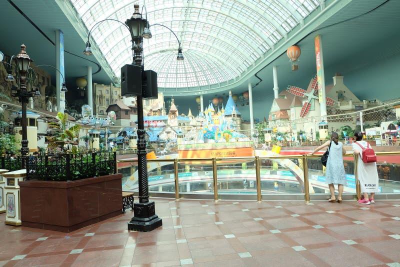 Πάρκο παγκόσμιου amusment Lotte στη Νότια Κορέα στοκ φωτογραφίες με δικαίωμα ελεύθερης χρήσης
