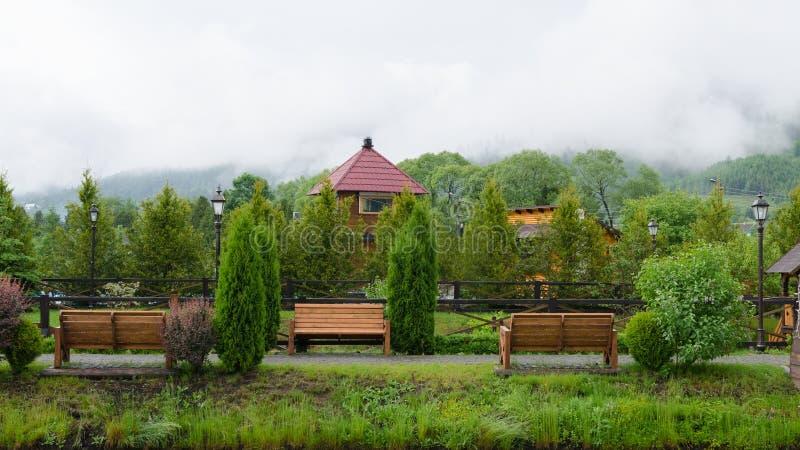 Πάρκο πρωινού Carpathians Ουκρανία στοκ φωτογραφίες με δικαίωμα ελεύθερης χρήσης