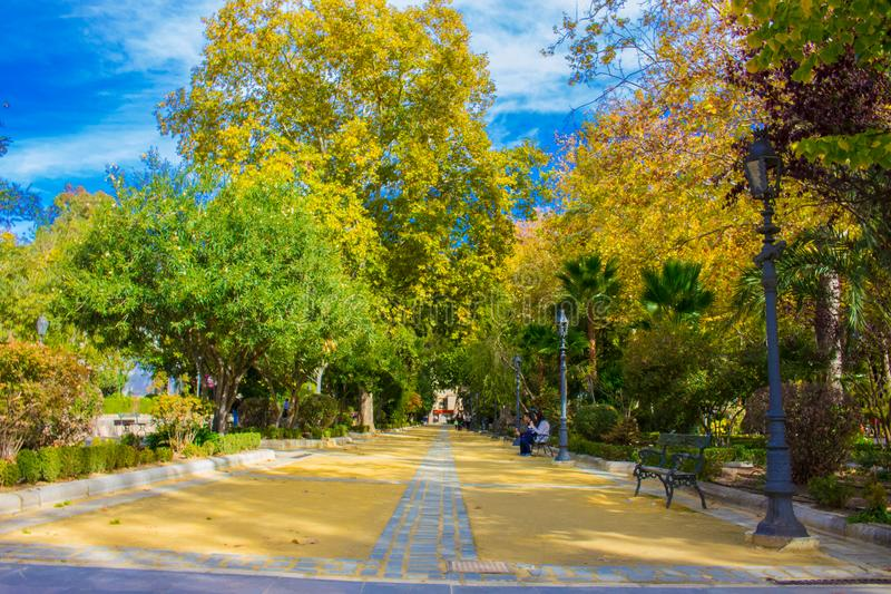 Πάρκο πόλεων στην πόλη της Ronda στοκ φωτογραφίες με δικαίωμα ελεύθερης χρήσης
