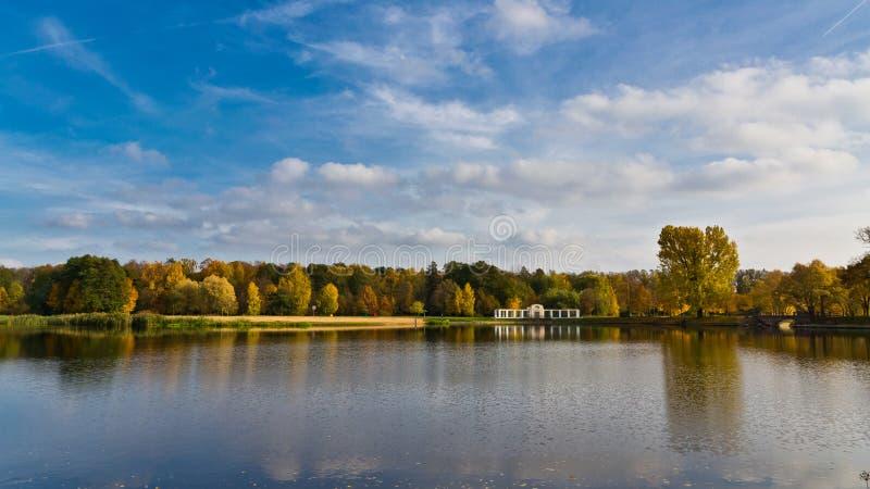 Πάρκο σε Nesvizh Λευκορωσία στοκ εικόνες με δικαίωμα ελεύθερης χρήσης